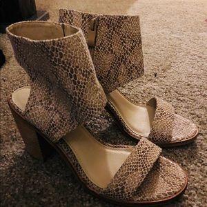 Cream heeled dress sandals